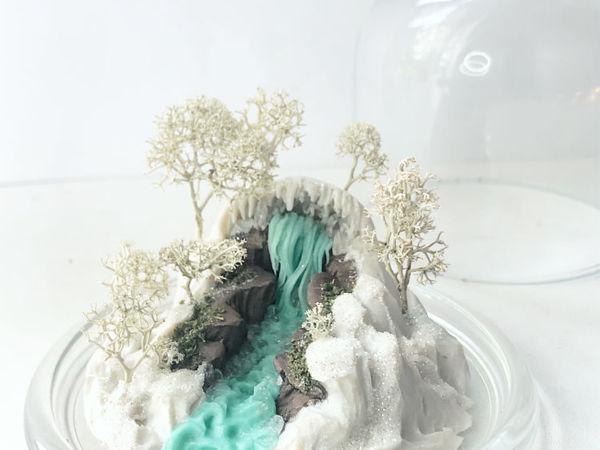 Делаем зимний водопад из полимерной глины | Ярмарка Мастеров - ручная работа, handmade