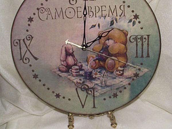 Делаем часы «Самое время... пить чай!» | Ярмарка Мастеров - ручная работа, handmade