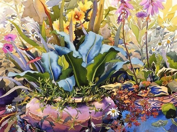 Яркая цветочная акварель в картинах Кристофера Райланда | Ярмарка Мастеров - ручная работа, handmade