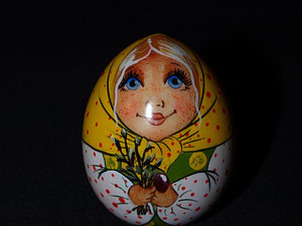 Пасхальное яйцо-матрёшка. Часть 3. Лицо - продолжение. Пишем глаза. | Ярмарка Мастеров - ручная работа, handmade