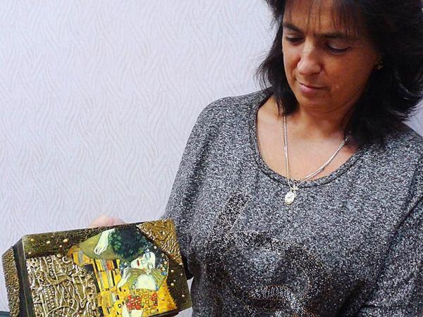Вдохновляясь Климтом — авторский МК Натальи Полех! | Ярмарка Мастеров - ручная работа, handmade
