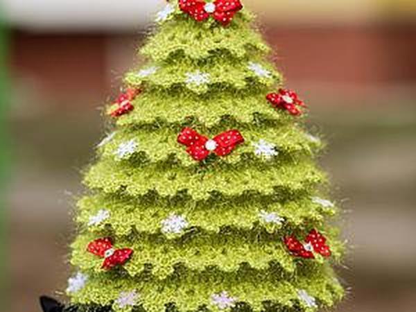 Вяжем искрящуюся новогоднюю ёлочку | Ярмарка Мастеров - ручная работа, handmade