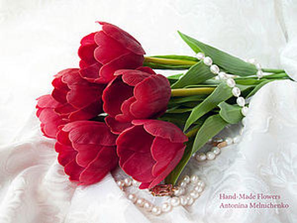 Цветы из холодного фарфора - Часть 3. Тюльпаны | Ярмарка Мастеров - ручная работа, handmade