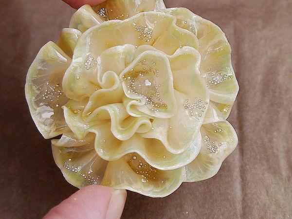 Создаем стеклянный цветок из полимерной глины | Ярмарка Мастеров - ручная работа, handmade