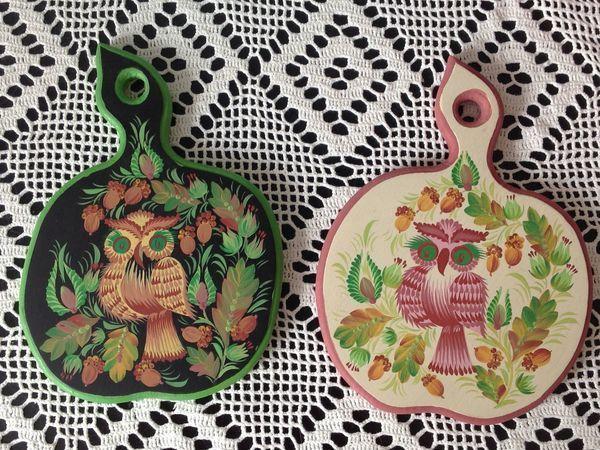Мастер-класс: разделочная доска в технике петриковской росписи | Ярмарка Мастеров - ручная работа, handmade