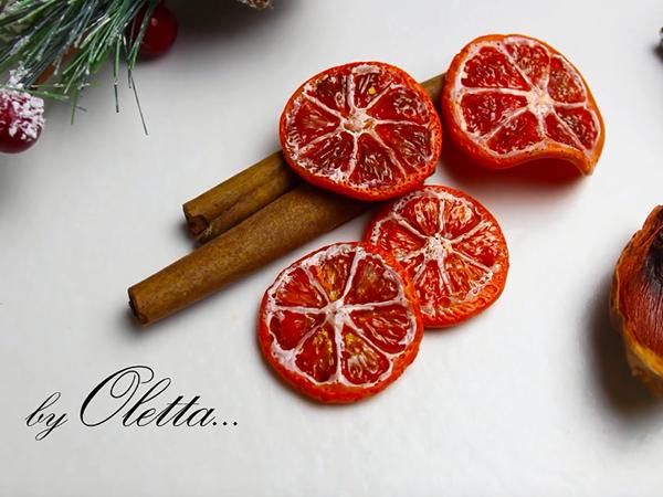 Make Dried Orange Slices Of Polymer Clay | Livemaster - handmade