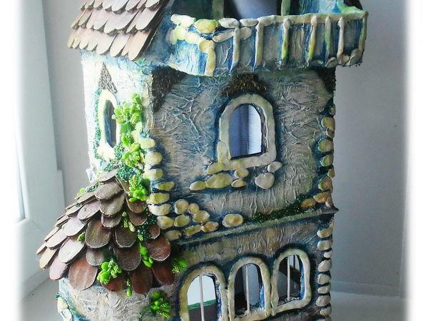 Как сделать кукольный домик из гофрокартона   Ярмарка Мастеров - ручная работа, handmade