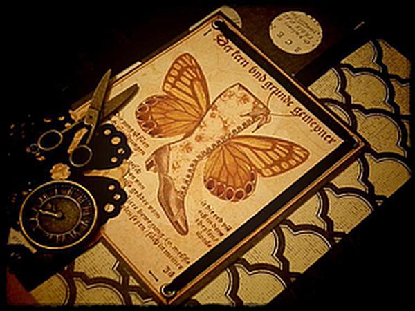 Способ несквозного скрап-декора люверсами | Ярмарка Мастеров - ручная работа, handmade