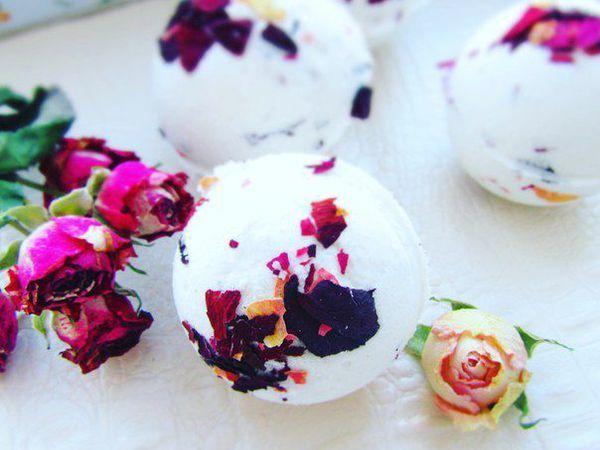 Как сделать бомбочки для ванны с лепестками роз | Ярмарка Мастеров - ручная работа, handmade