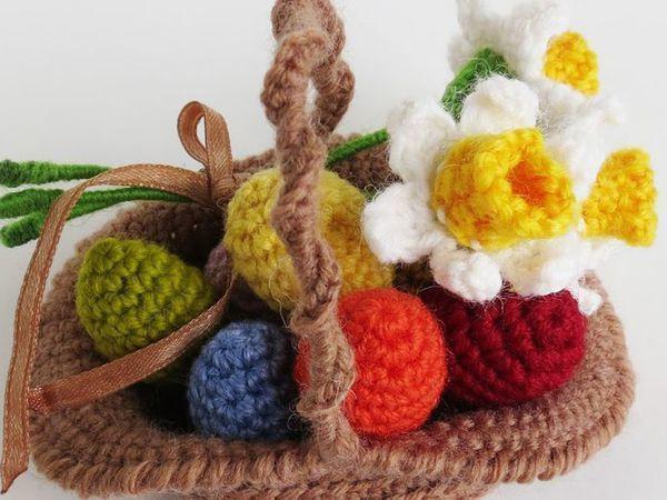 17 идей для вязаных пасхальных корзинок | Ярмарка Мастеров - ручная работа, handmade
