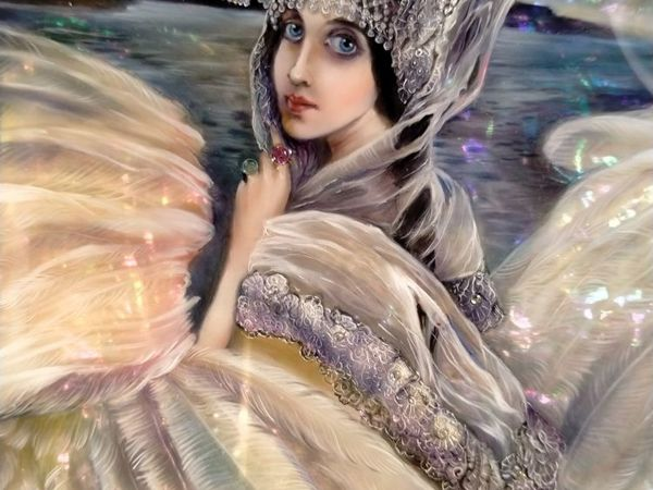Новое панно Царевна — Лебедь   Ярмарка Мастеров - ручная работа, handmade