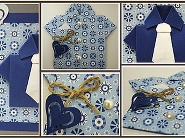 Открытка с элементами оригами | Ярмарка Мастеров - ручная работа, handmade