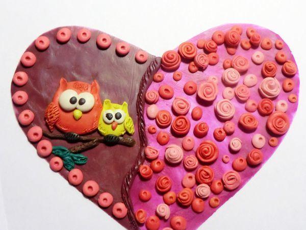 Творим с малышами милый подарок на День матери. Открытка «От всего сердца!»   Ярмарка Мастеров - ручная работа, handmade