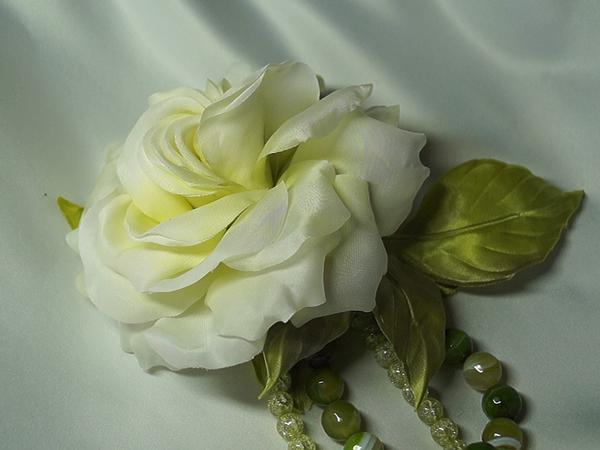 Роза-брошь Белый мастер   Ярмарка Мастеров - ручная работа, handmade