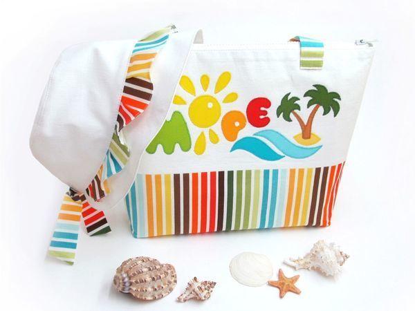 8b860c387682 Шьём пляжную сумочку и панамку для девочки | Ярмарка Мастеров - ручная  работа, handmade