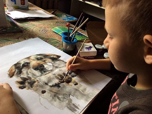 9-летний художник спасает животных из приюта: удивительный проект «Добрая кисть» | Ярмарка Мастеров - ручная работа, handmade