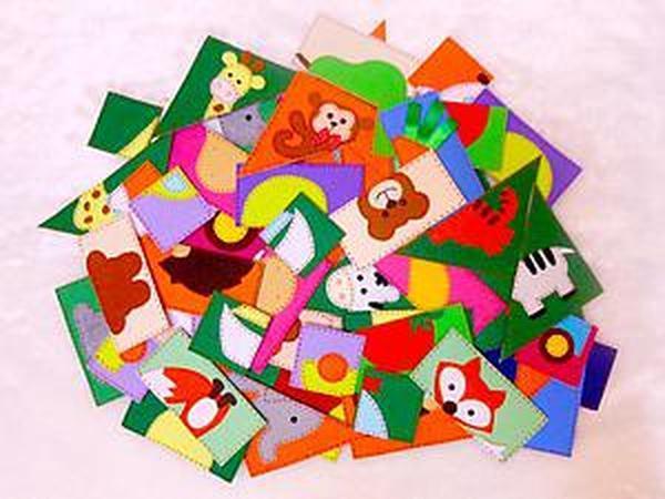Пазлы - полезная развивающая игра для малышей   Ярмарка Мастеров - ручная работа, handmade