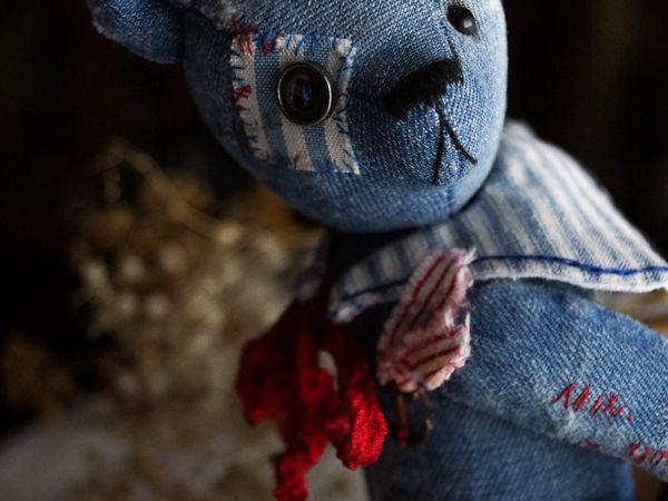 Новенький—старенький Jean bear   Ярмарка Мастеров - ручная работа, handmade