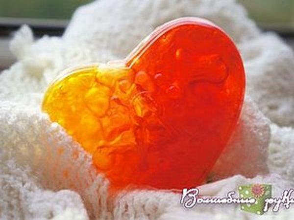 Воздушное сердце: делаем необычное мыло   Ярмарка Мастеров - ручная работа, handmade