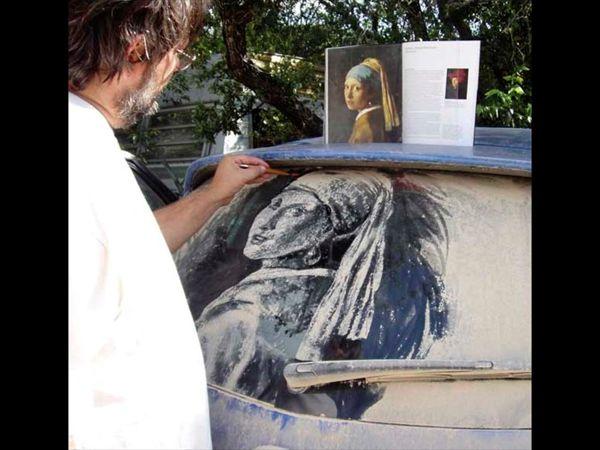 Грязная машина — как вдохновение или пыльные картины Скотта Уэйда   Ярмарка Мастеров - ручная работа, handmade