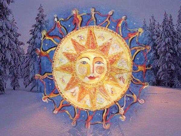 Зимнее солнцестояние | Ярмарка Мастеров - ручная работа, handmade