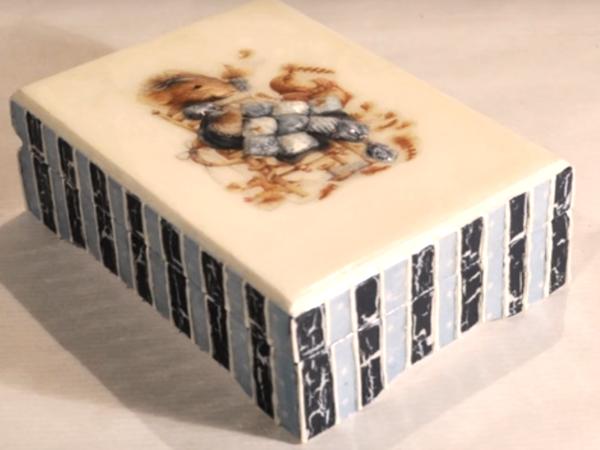 Видео мастер-класс по декупажу: процесс преображения шкатулки «Маленькая мышка». Часть 4 | Ярмарка Мастеров - ручная работа, handmade