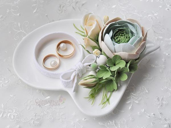 Создаём своими руками тарелочку для обручальных колец | Ярмарка Мастеров - ручная работа, handmade