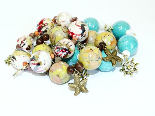 Собираем бусы и браслеты из бусин и подвесок   Ярмарка Мастеров - ручная работа, handmade