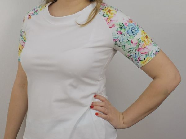 Шьем футболку из кулирки с рукавом реглан | Ярмарка Мастеров - ручная работа, handmade