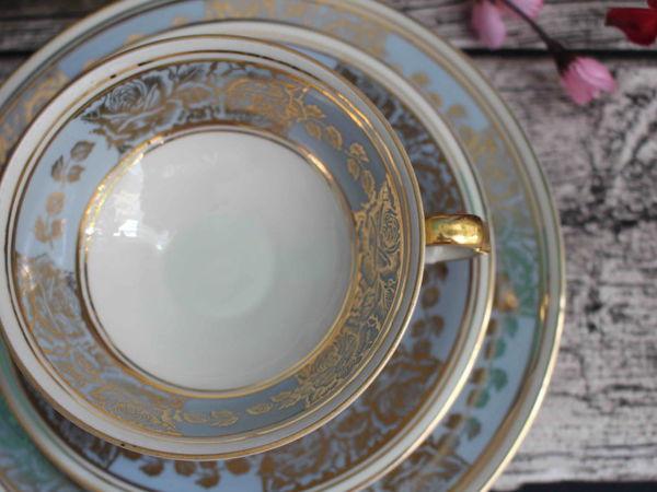 «Золотые розы на ниагаре»  Чайные тройки от Gebruder Mayer, Германия | Ярмарка Мастеров - ручная работа, handmade