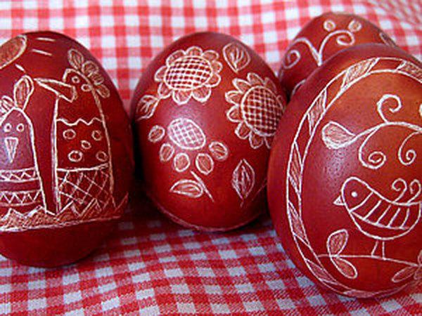 Украшение пасхальных яиц в технике драпанка. | Ярмарка Мастеров - ручная работа, handmade