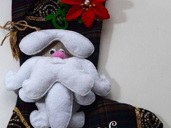 Шьем нарядный новогодний сапожок   Ярмарка Мастеров - ручная работа, handmade