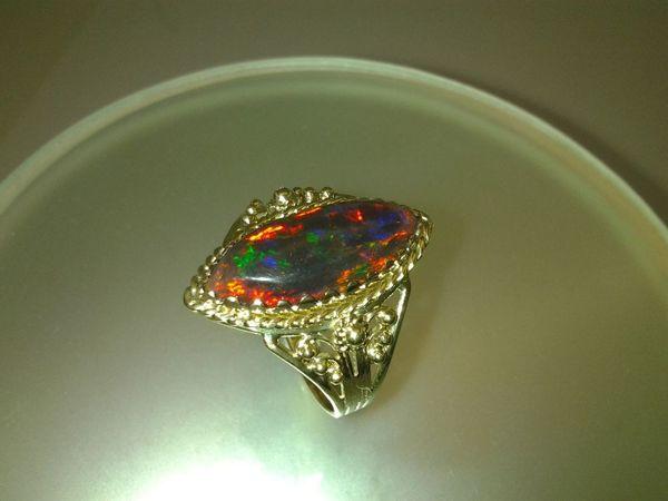 Кольцо  «мАркиз» .Золото.опал | Ярмарка Мастеров - ручная работа, handmade