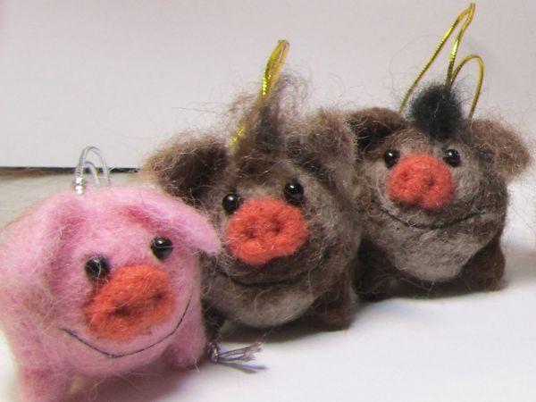 Свинки и Кабанчики валяные из шерсти — последние новинки в этом году | Ярмарка Мастеров - ручная работа, handmade