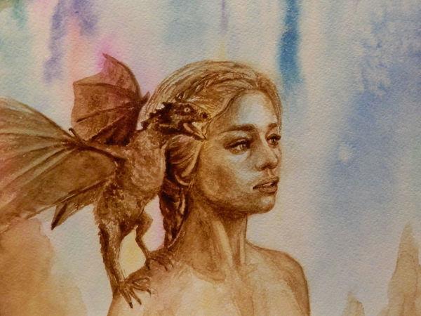 Рисуем портрет Daenerys из телесериала «Игра Престолов». Продолжение | Ярмарка Мастеров - ручная работа, handmade