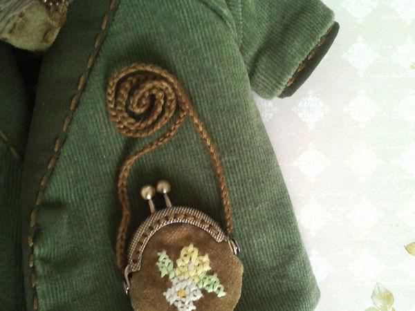 Шьем сумочку с фермуаром для тедди или куколки | Ярмарка Мастеров - ручная работа, handmade
