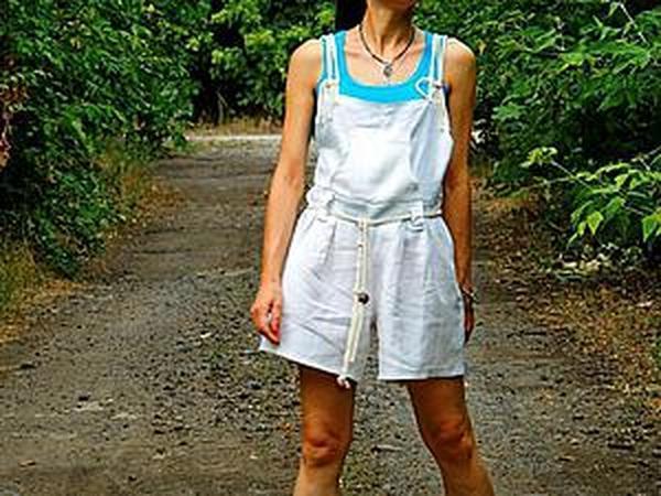 Переделываем льняные брюки в комбинезон для дачного сезона | Ярмарка Мастеров - ручная работа, handmade