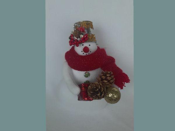 Шьем снеговичка в стиле тильда | Ярмарка Мастеров - ручная работа, handmade