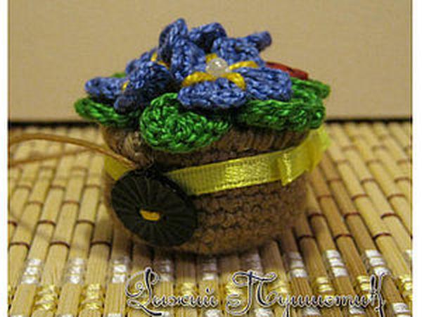 Как сделать миниатюрную цветочную тележку   Ярмарка Мастеров - ручная работа, handmade