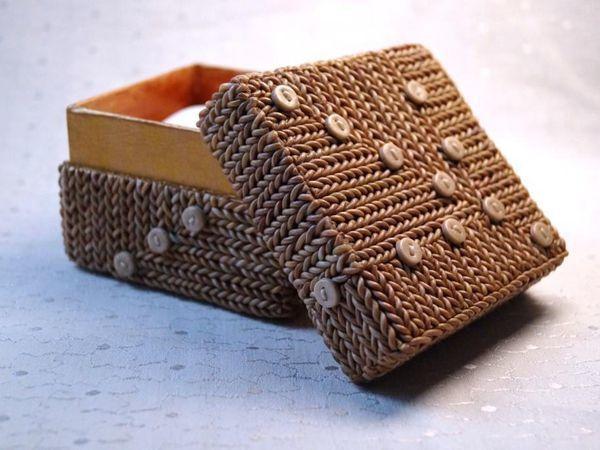 Декор картонной коробочки полимерной глиной: видеоурок | Ярмарка Мастеров - ручная работа, handmade