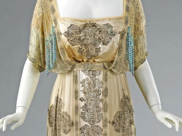 Вечернее платье в стиле Ар Нуво от Жака Дусе 1909-1911 гг   Ярмарка Мастеров - ручная работа, handmade