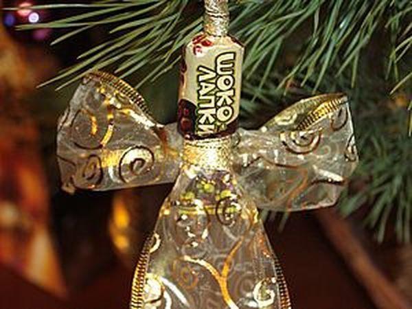Как сделать ангела из конфетки | Ярмарка Мастеров - ручная работа, handmade