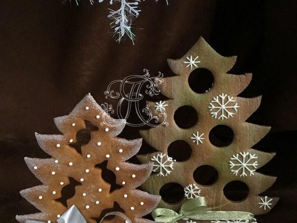 Как сделать интерьерные елочки-ароматизаторы из пряничного теста | Ярмарка Мастеров - ручная работа, handmade