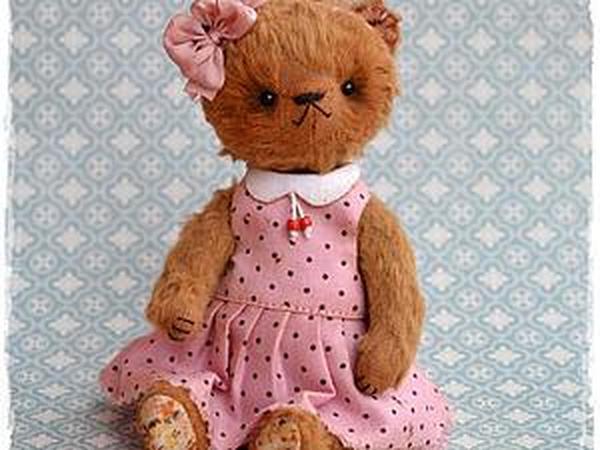 Шьем платье с воротником для мишки тедди | Ярмарка Мастеров - ручная работа, handmade