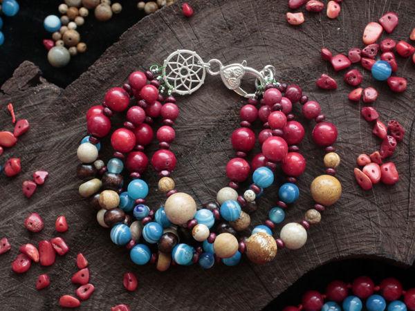 Как собрать многорядный браслет из бусин   Ярмарка Мастеров - ручная работа, handmade