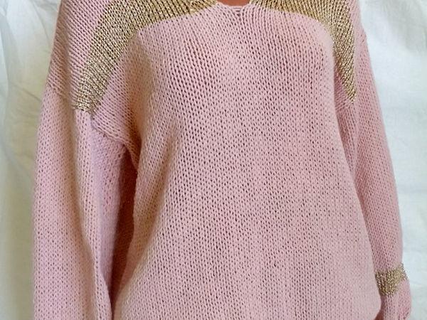 Скидка 22% на свитер с вырезом и золотой вставкой   Ярмарка Мастеров - ручная работа, handmade