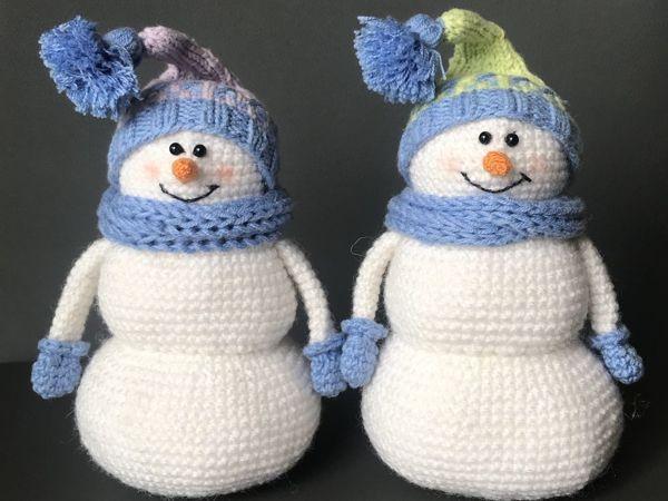 Вяжем крючком Снеговика   Ярмарка Мастеров - ручная работа, handmade