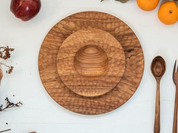 Фактурные тарелки из груши, видео | Ярмарка Мастеров - ручная работа, handmade