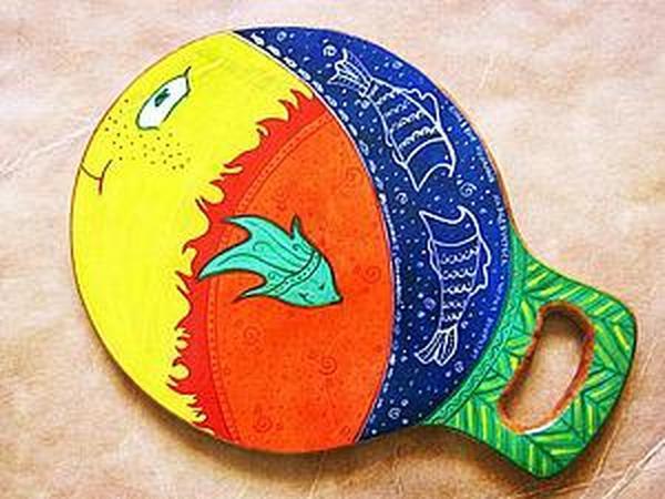 Роспись разделочной доски | Ярмарка Мастеров - ручная работа, handmade