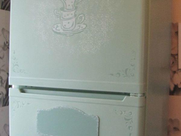 Изучаем основы декора: старый холодильник на новый лад   Ярмарка Мастеров - ручная работа, handmade